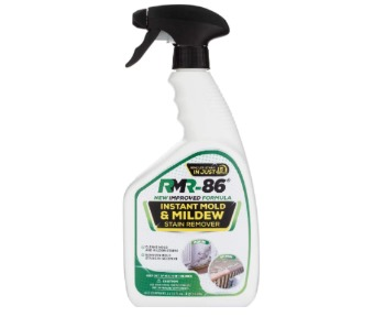 Fast-acting mold stain remover spray