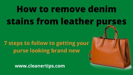 How to remove denim stains from leather purses