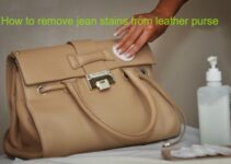 How to remove jean stains from leather purse