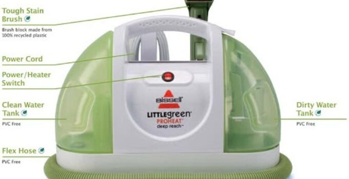 How to clean Bissell little green brush